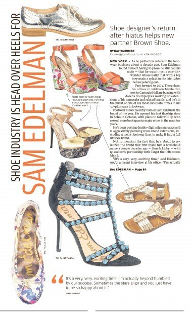 After hiatus, shoe designer Sam Edelman