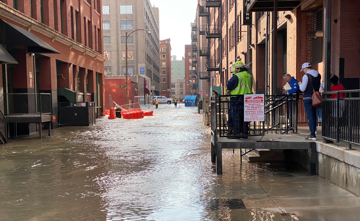 Broken water main sends water gushing onto St. Louis street