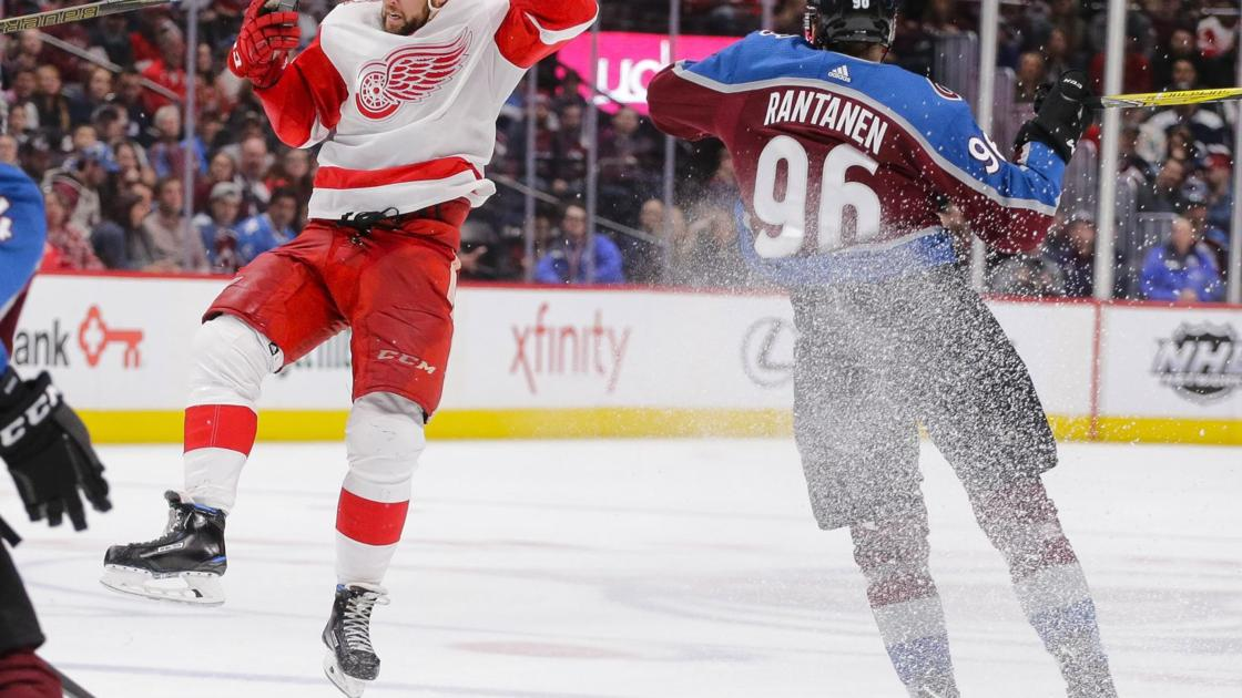 NHL: Colorado extends Red Wings' skid