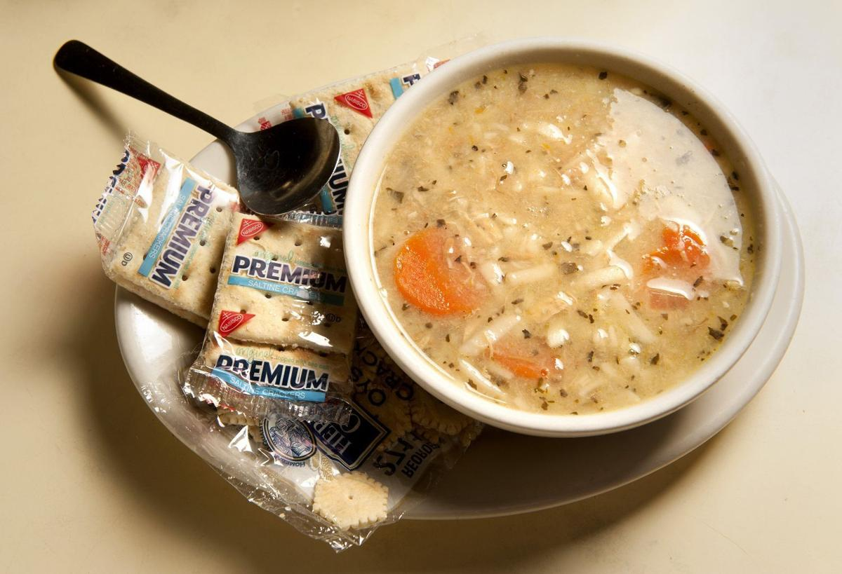 Hearty Chicken Noodle Soup at Blueberry Hill