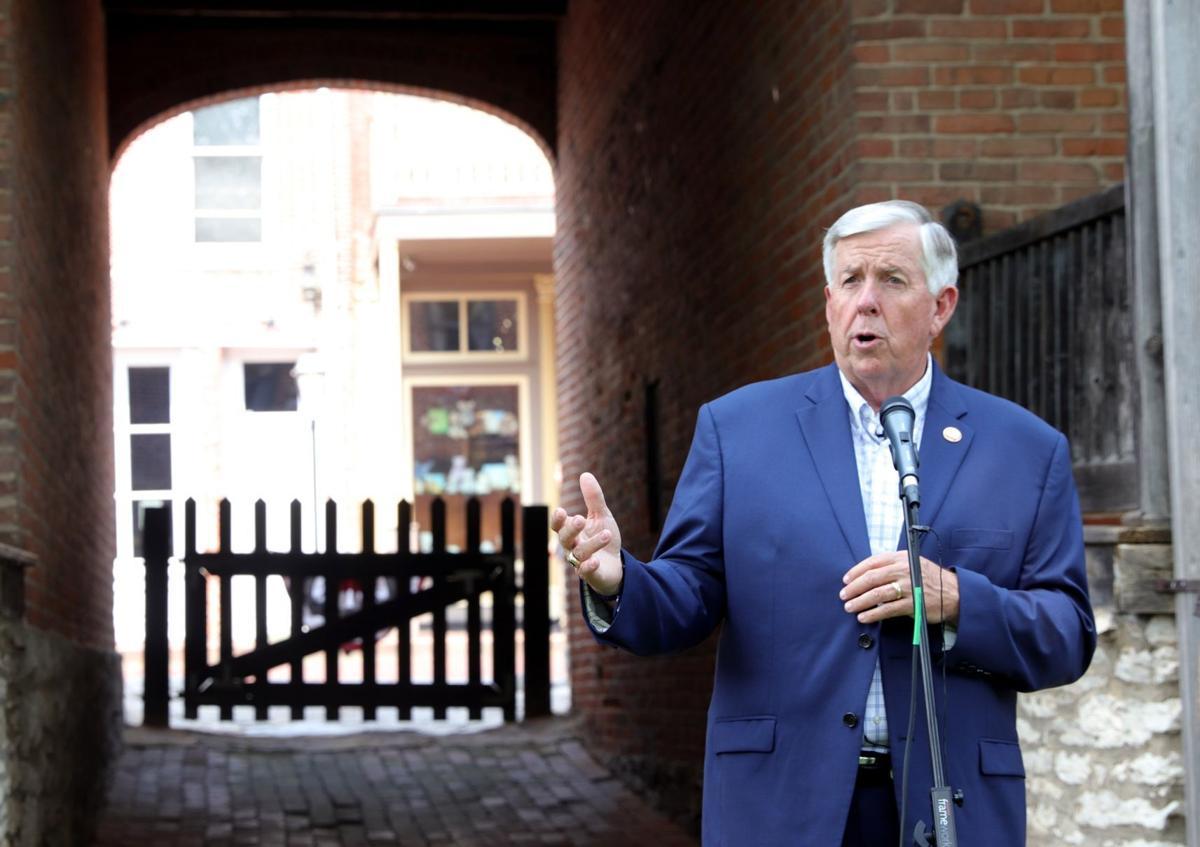 Missouri Gov. Mike Parson visits historic sites