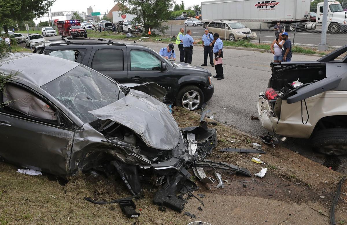 Gunshots trigger multi-car crash on Interstate 70 in St