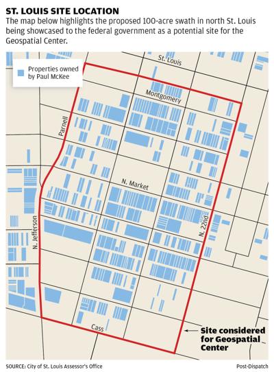 Map: St. Louis site location