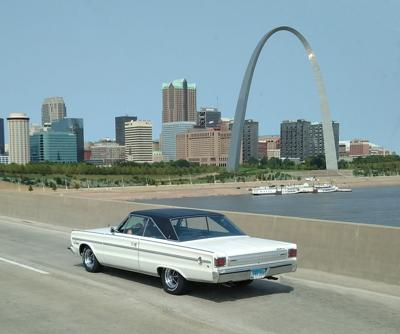 We spotted this exceptionally clean, 1966 Plymouth Satellite recently heading westbound across the river to St. Louis. Aside from the custom mag wheels, there is something odd about this car. Can you spot it?