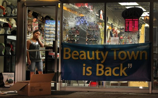 Business vandalized, briefly looted in Ferguson