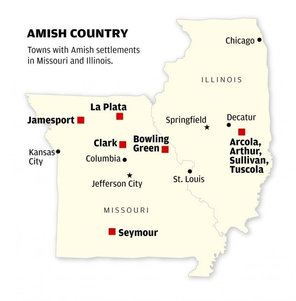Amish Communities In Missouri Map.Amish Migrate To New Home In Missouri Travel Stltoday Com