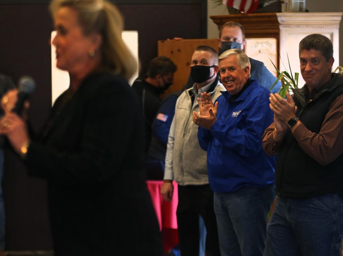 Parson campains in first gubernatorial election