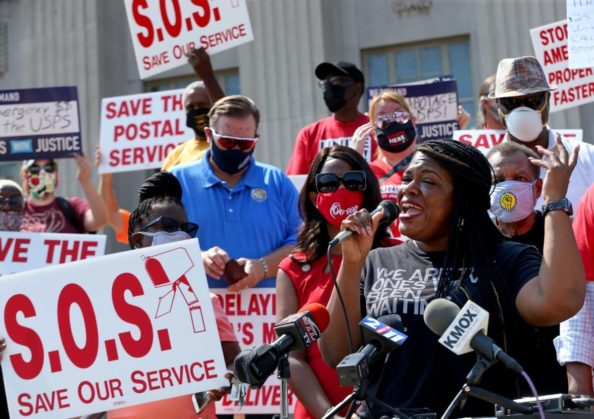 Postal workers rally to protect all mail