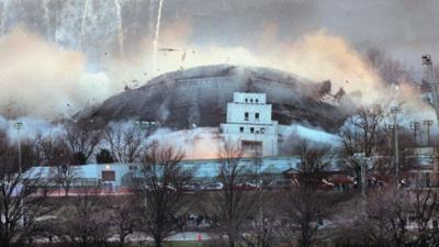 The St. Louis Arena, 1999 implode