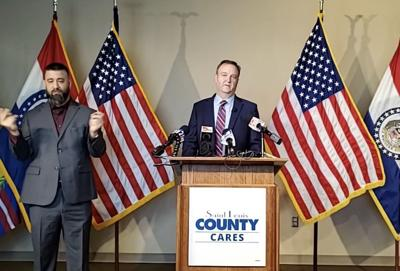 St. Louis County Executive Sam Page announces new restrictions