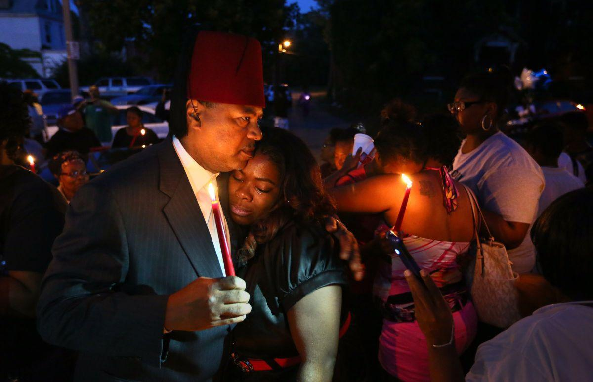 Vigil held for Mansur Ball-Bey, killed by police