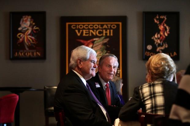 Gingrich joins Akin for Kirkwood fundraiser