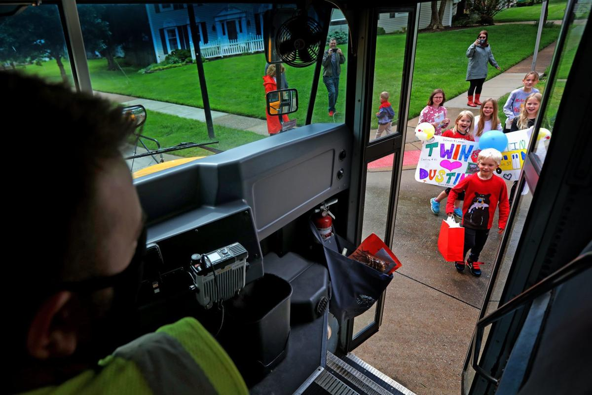 School bus driver Dustin Ray makes one last round to say goodbye to Rockwood families