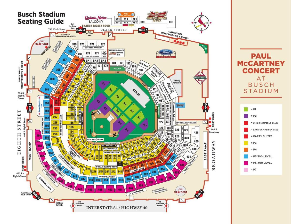 download pdf paul mccartney seating map. busch stadium gets ready for its paul mccartney closeup  the