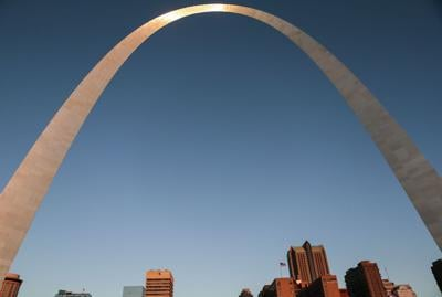 Sunrise at The Gateway Arch in St. Louis