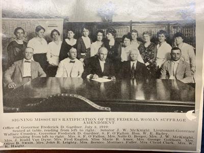 Missouri ratification of women's suffrage
