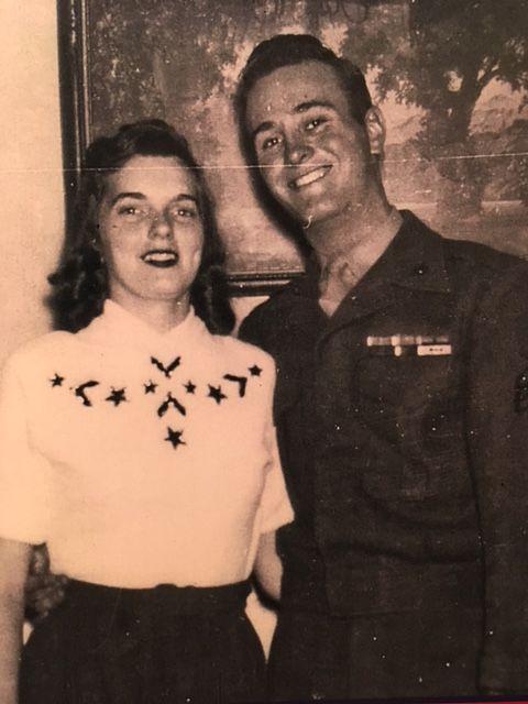 Verla and Jim Hellmann in 1951