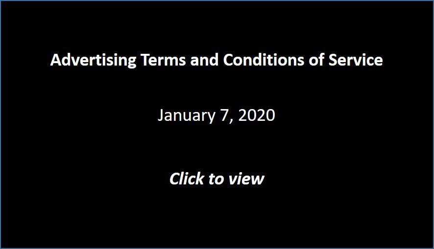 Advertising Terms and Conditions of Service