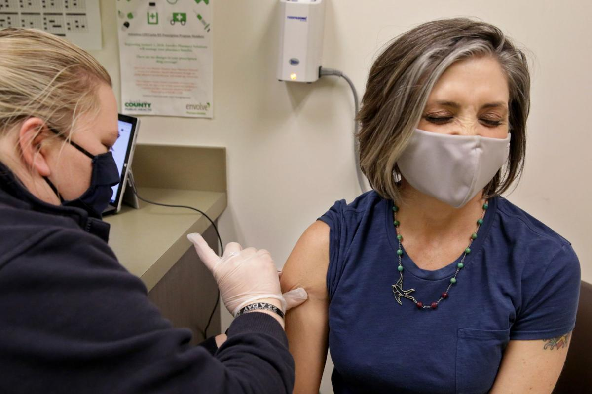 Covid vaccine at St. Louis County Health Dept.