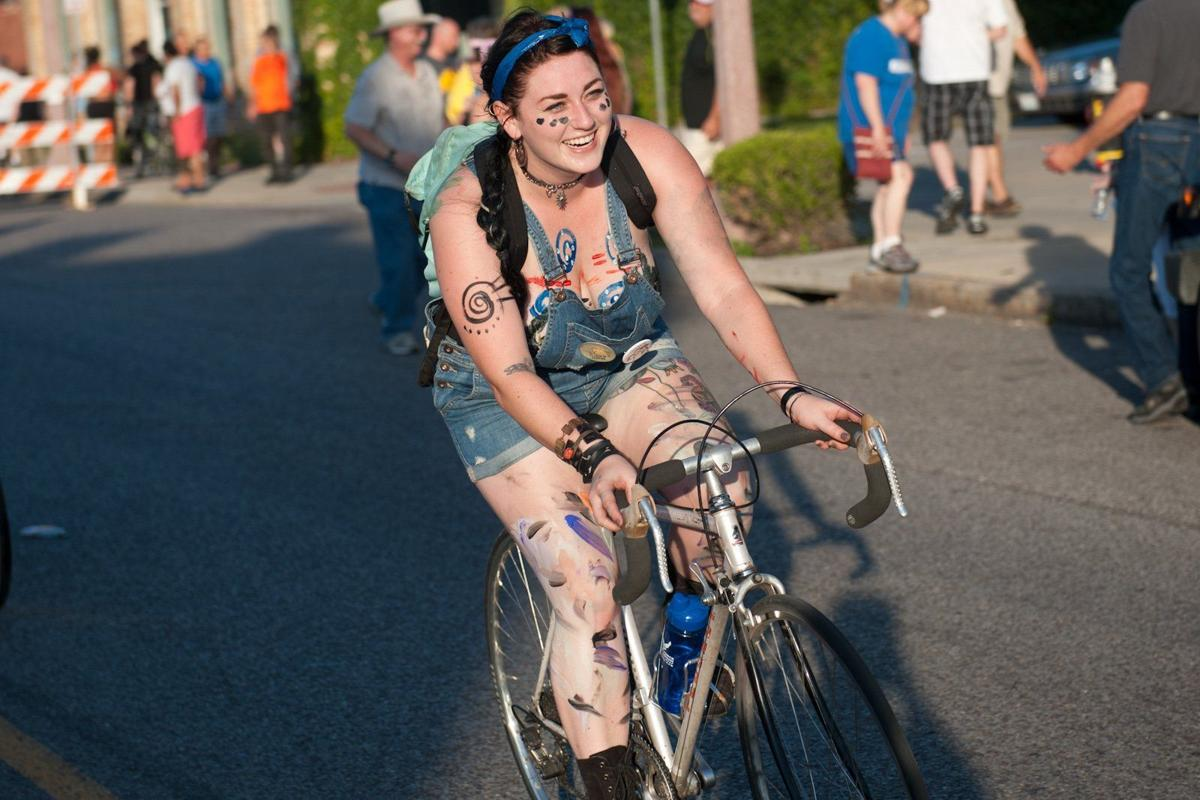 World Naked Bike Ride in St. Louis