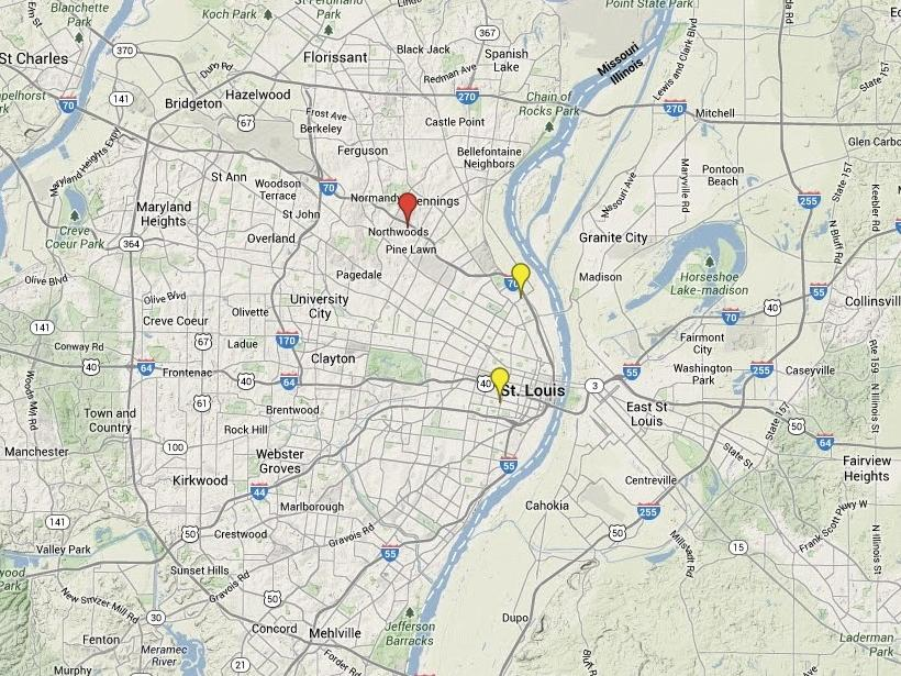2014 st louis area homicide map law and order stltoday