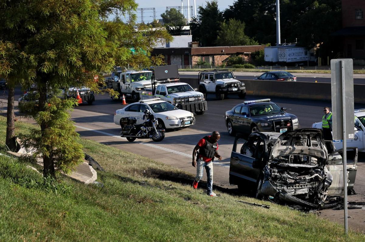 Two dead, two wounded in shooting, SUV crash in St  Louis