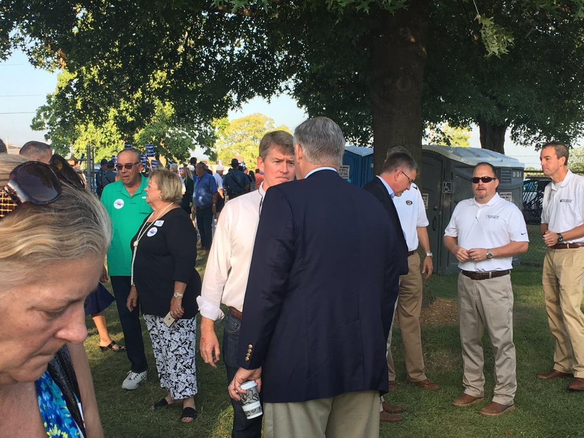 Jay Nixon and Chris Koster cross paths at Missouri State Fair