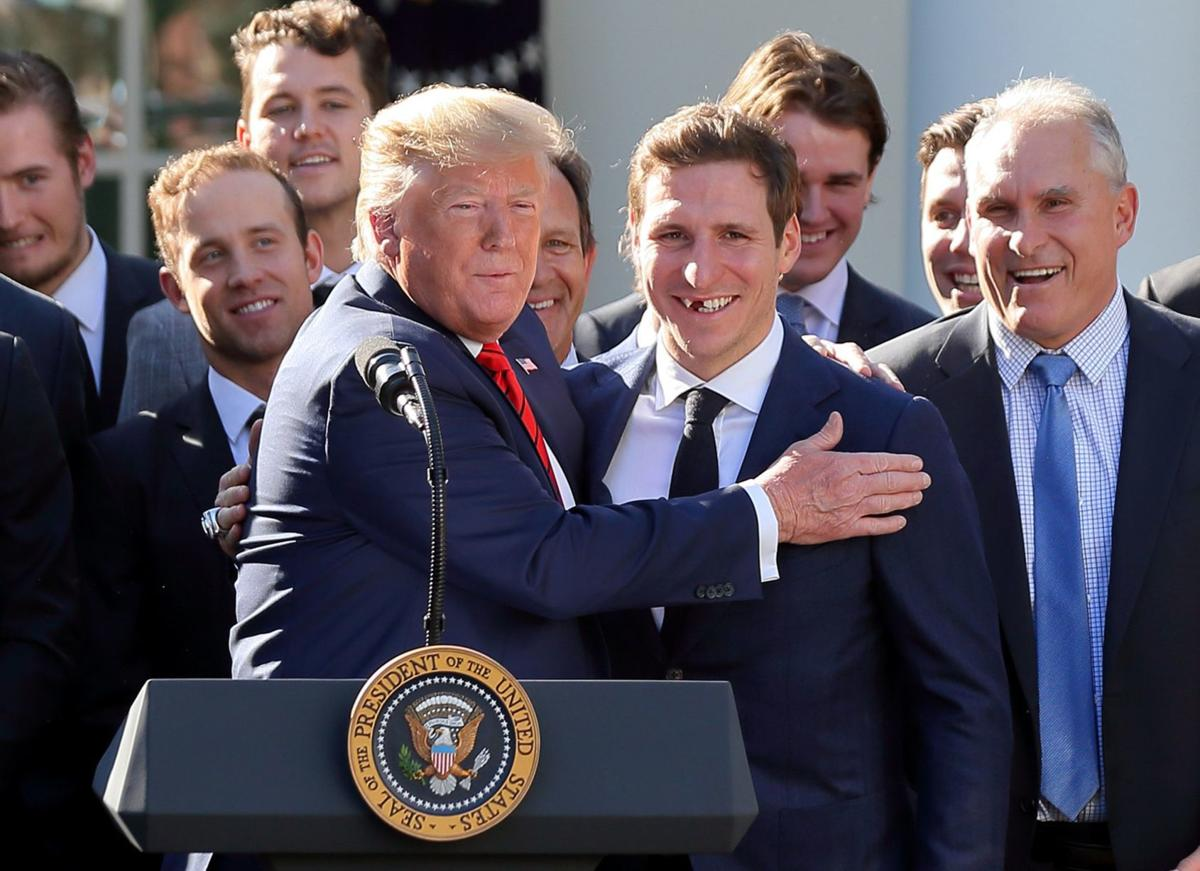 Photos: Blues visit the White House, President Trump