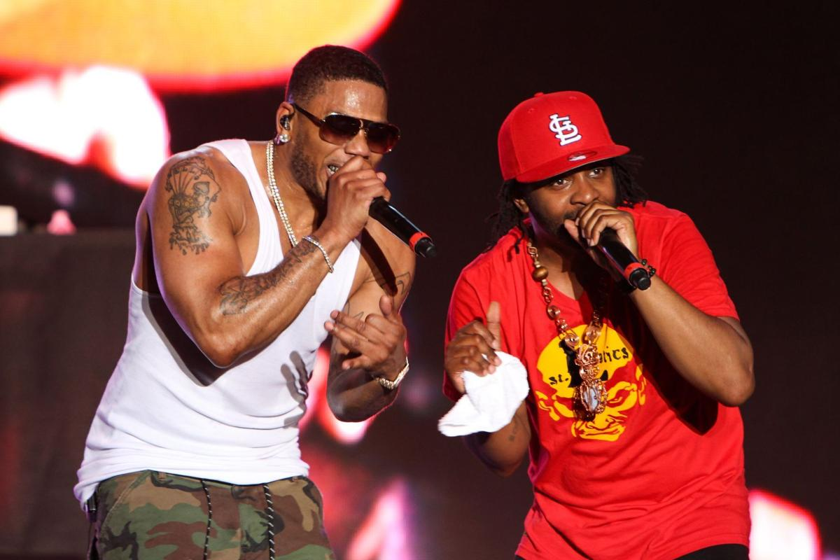 Nelly's drive-in concert at Hollywood Casino Amphitheatre's parking lot