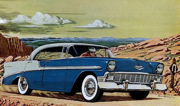 The 1956 Bel Air Sports Sedan Was A New Motorcar Fashion That
