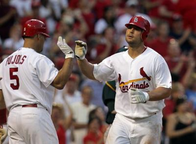 St. Louis Cardinals play the Oakland Athletics