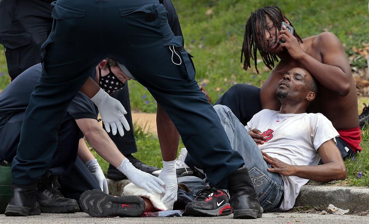 Two men shot blocks away from earlier shooting