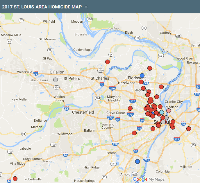 2017 St. Louis area homicide map | Special Features | stltoday.com