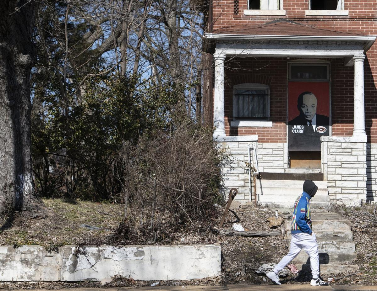 Vacant homes decorated, slated for redevelopment