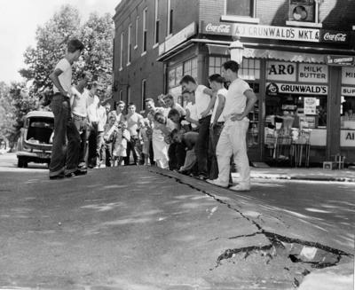 Record heat in 1954 buckled pavement in St. Louis