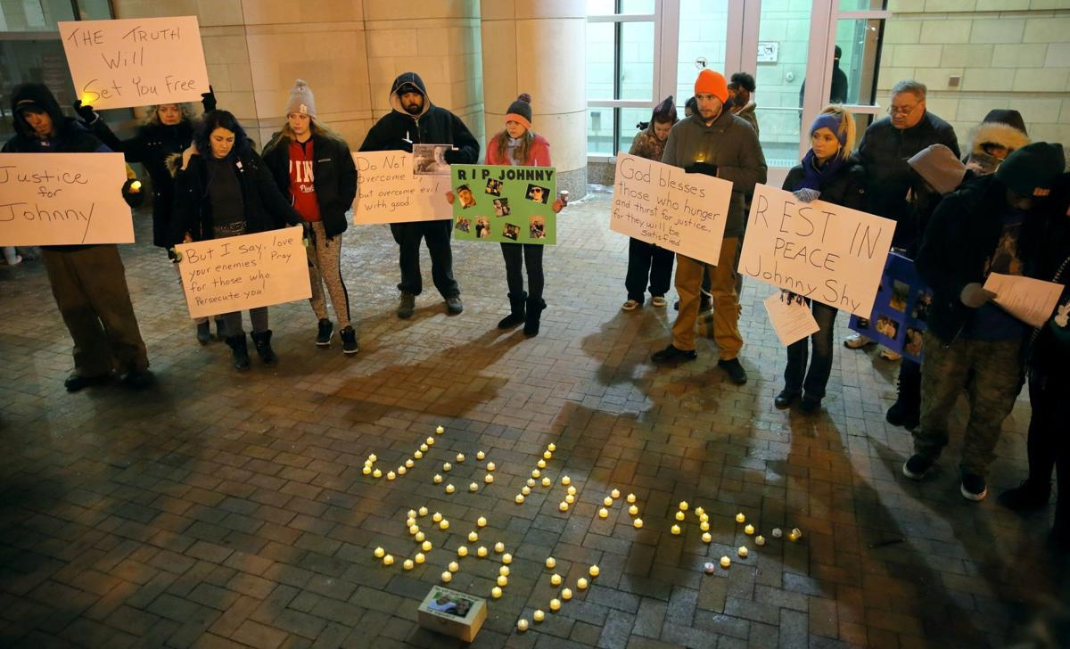 Memorial held for John Shy who died at St. Louis County Justice Center jail