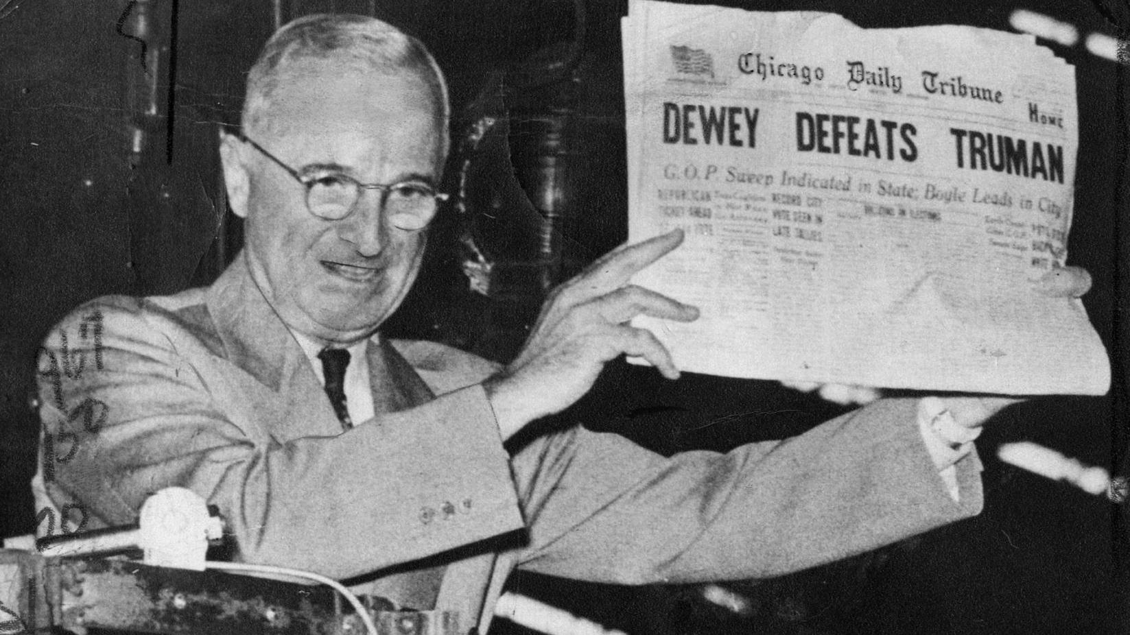 Nov. 4, 1948 • Truman's St. Louis stop yielded a photo for the ...