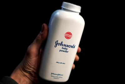 FILE PHOTO:    A bottle of Johnson and Johnson Baby Powder is seen in a photo illustration taken in New York
