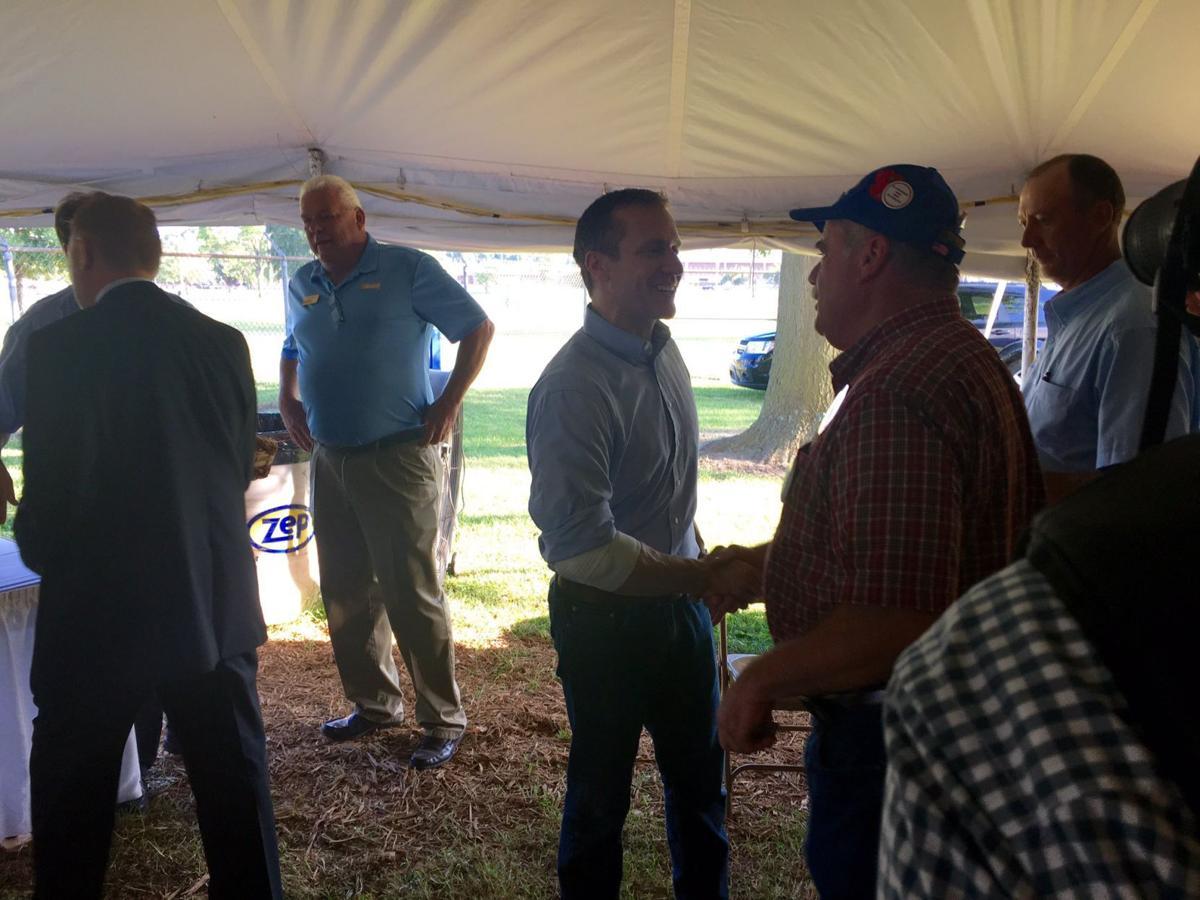 Shaking hands at Missouri State Fair