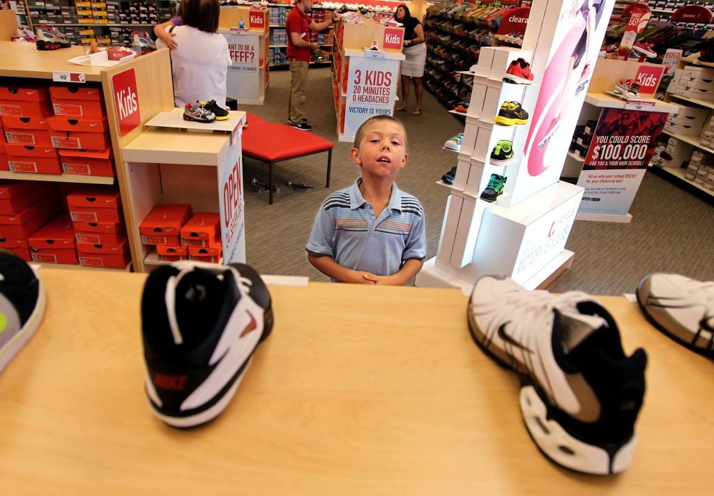 Famous Footwear emphasizes athletic