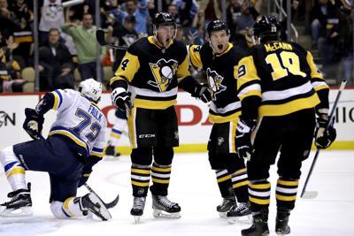 Blues Penguins Hockey
