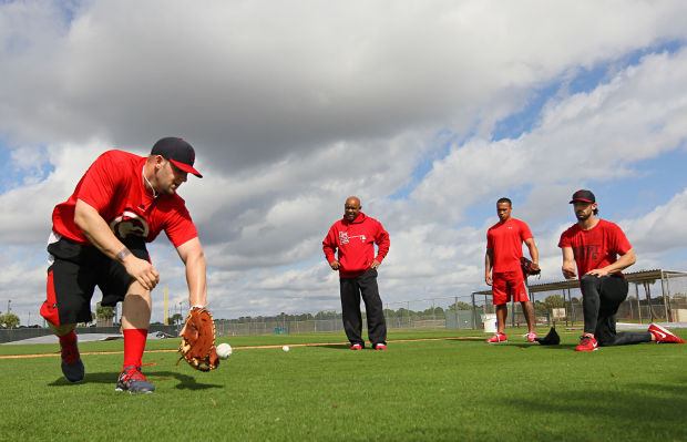 St. Louis Cardinals Matt Adams speed drills