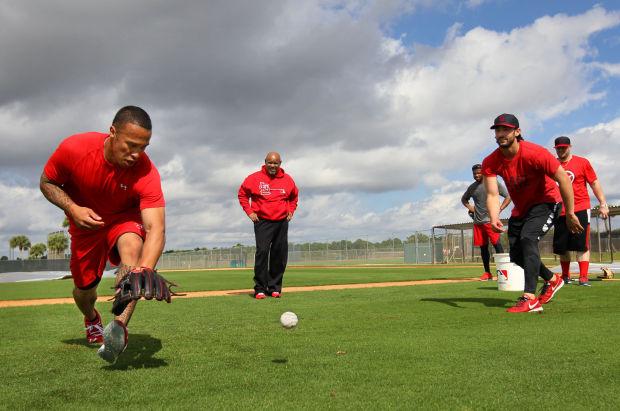 St. Louis Cardinals Kolten Wong speed drills