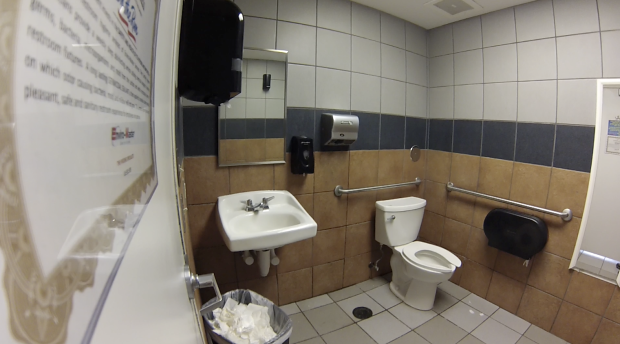 Gas station toilet sex video - 3 8