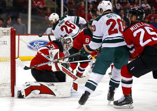 Nhl wild beat devils move up in central hockey stltoday wild score 3 in 2nd period to overcome 2 0 deficit vs devils publicscrutiny Choice Image
