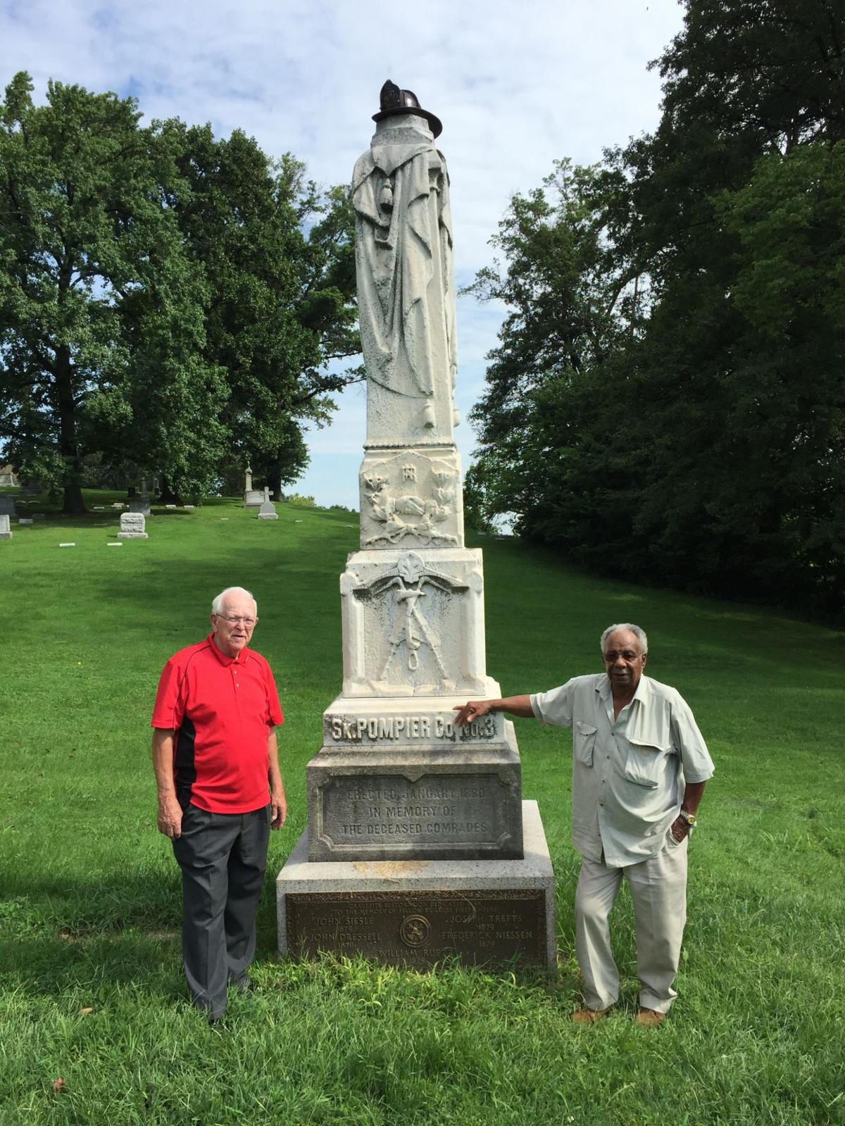 Fireman's Fund monument at Bellefontaine Cemetery