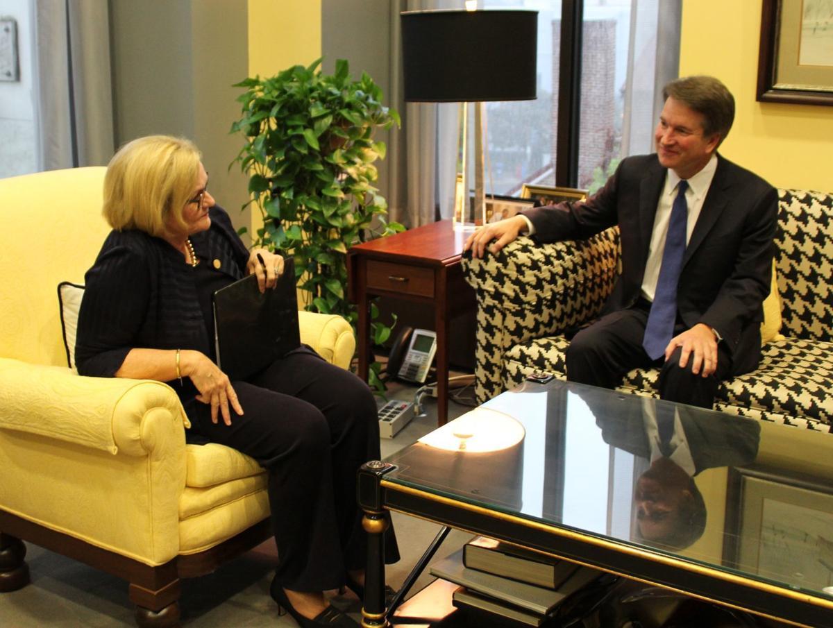Sen. Claire McCaskill meets with Supreme Court nominee Brett Kavanaugh
