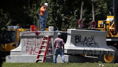 Confederate monument removed from Forest Park