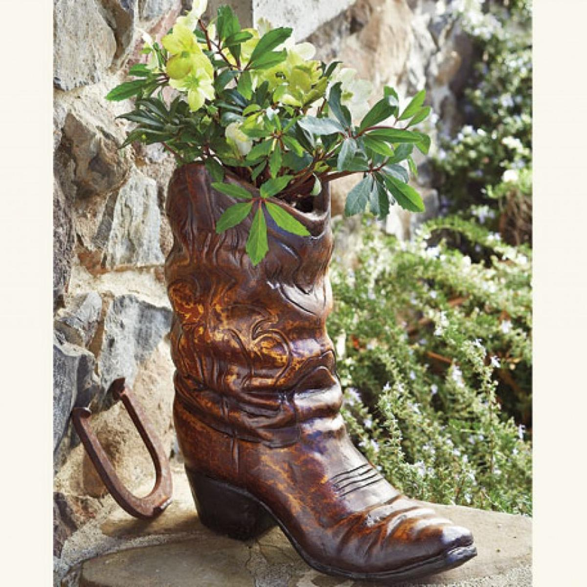 High Low Garden Boot Planter Home