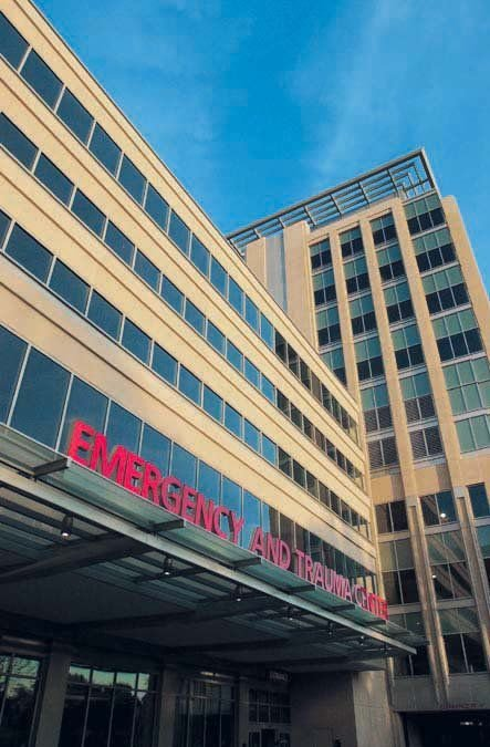 McGrath at work on expansion of emergency room at Barnes-Jewish
